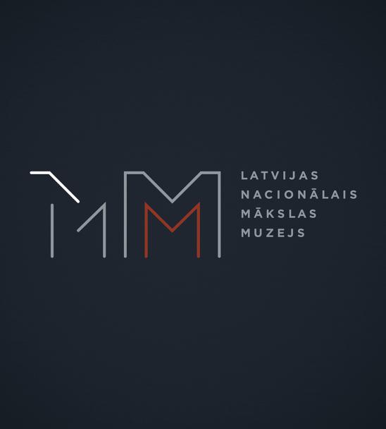 Latvijas Nacionālā mākslas muzeja vizuālā identitāte — Maija Rozenfelde