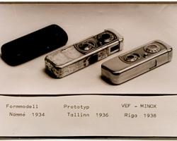 LFMp1903 Minox kameras prototips un VEF minox. Reproducçja Pçteris Korsaks. 2000. gads Oriìinâls 1938-1940. gadi