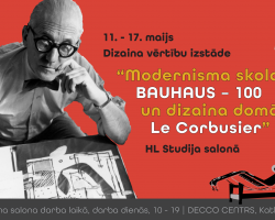 Le Corbusier HL Studija izstade 11-17 maijs